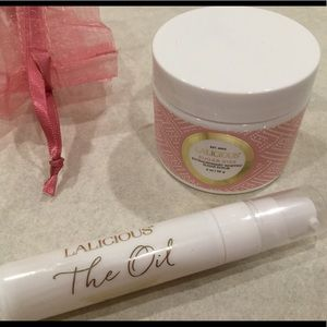 LALICIOUS body scrub and oil